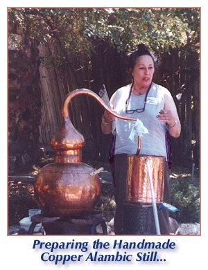 handmade copper alambic still, distillation classes